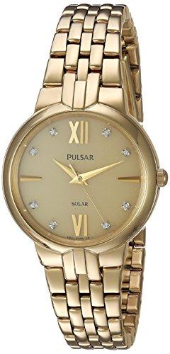 パルサー SEIKO セイコー 腕時計 レディース PY5026 Pulsar Women's Japanese-Quartz Watch with Stainless-Steel Strap, Gold, 16 (Model: PY5026)パルサー SEIKO セイコー 腕時計 レディース PY5026