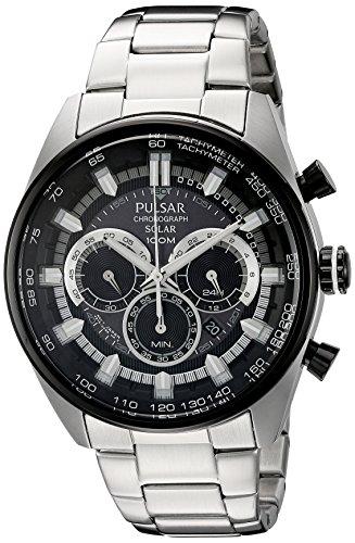 パルサー SEIKO セイコー 腕時計 メンズ PX5033 【送料無料】Pulsar Men's PX5033 Solar Chronograph Analog Display Japanese Quartz Silver Watchパルサー SEIKO セイコー 腕時計 メンズ PX5033