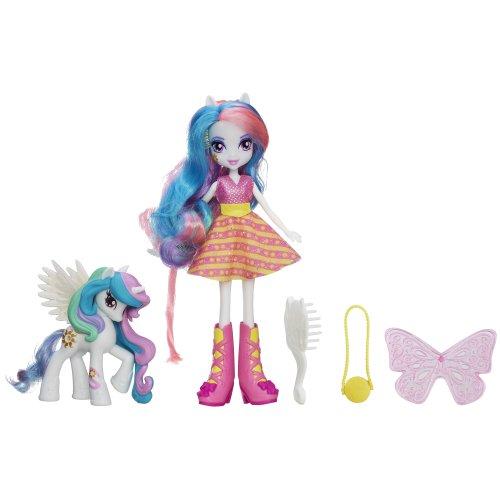 マイリトルポニー ハズブロ hasbro、おしゃれなポニー かわいいポニー ゆめかわいい A5103 My Little Pony Equestria Girls Celestia Doll and Pony Setマイリトルポニー ハズブロ hasbro、おしゃれなポニー かわいいポニー ゆめかわいい A5103