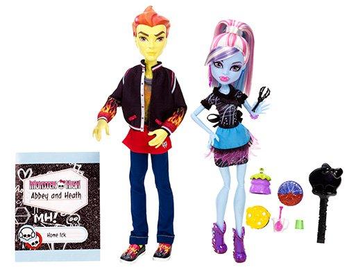 モンスターハイ 人形 ドール BBC82 【送料無料】Monster High Home Ick Abbey Bominable & Heath Burns 2-Packモンスターハイ 人形 ドール BBC82