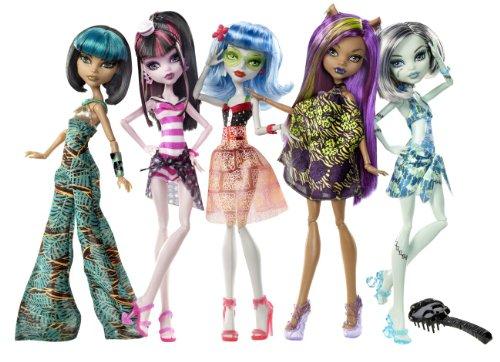 モンスターハイ 人形 ドール X4489 Monster High Skull Shores 5 Pack w/ 3 exclusive Dollsモンスターハイ 人形 ドール X4489