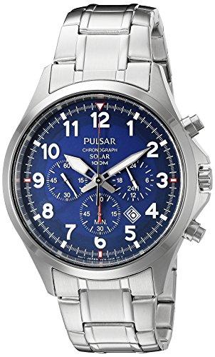 パルサー SEIKO セイコー 腕時計 メンズ PX5037 【送料無料】Pulsar Men's PX5037 Solar Chronograph Analog Display Japanese Quartz Silver Watchパルサー SEIKO セイコー 腕時計 メンズ PX5037