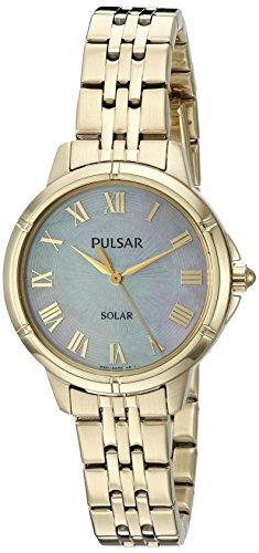 パルサー SEIKO セイコー 腕時計 レディース PY5008 Pulsar Women's 'Ladies Dress Solar' Quartz Gold-Tone and Stainless-Steel Watch, Color: (Model: PY5008)パルサー SEIKO セイコー 腕時計 レディース PY5008