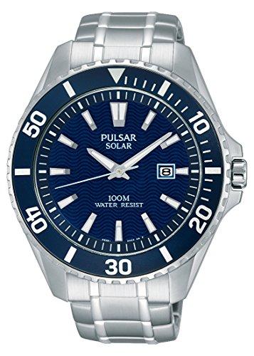 パルサー SEIKO セイコー 腕時計 メンズ PX3067 【送料無料】Pulsar Men's PX3067 Solar Dress Analog Display Japanese Quartz Silver Watchパルサー SEIKO セイコー 腕時計 メンズ PX3067