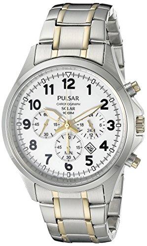 腕時計 パルサー SEIKO セイコー メンズ PX5041 【送料無料】Pulsar Men's PX5041 Solar Chronograph Analog Display Japanese Quartz Two-Tone Watch腕時計 パルサー SEIKO セイコー メンズ PX5041