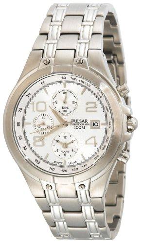 パルサー SEIKO セイコー 腕時計 メンズ PF3665 【送料無料】Pulsar Men's PF3665 Alarm Chronograph Silver-Tone Stainless Steel Watchパルサー SEIKO セイコー 腕時計 メンズ PF3665