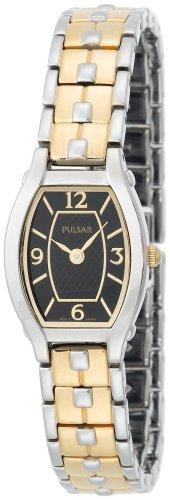 腕時計 パルサー SEIKO セイコー レディース PTA385 【送料無料】Pulsar Women's PTA385 Dress Black Dial Two-Tone Watch腕時計 パルサー SEIKO セイコー レディース PTA385