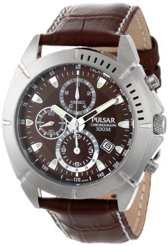 パルサー SEIKO セイコー 腕時計 メンズ PF8303 【送料無料】Pulsar Men's PF8303 Stainless Steel Sport Watch with Leather Bandパルサー SEIKO セイコー 腕時計 メンズ PF8303