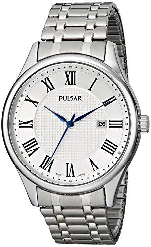 腕時計 パルサー SEIKO セイコー メンズ PH9039 【送料無料】Pulsar Men's PH9039 Traditional Collection Analog Display Japanese Quartz Silver Watch腕時計 パルサー SEIKO セイコー メンズ PH9039