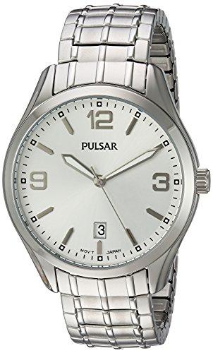 パルサー SEIKO セイコー 腕時計 メンズ PS9491 Pulsar Men's Japanese-Quartz Watch with Stainless-Steel Strap, Silver, 20 (Model: PS9491)パルサー SEIKO セイコー 腕時計 メンズ PS9491