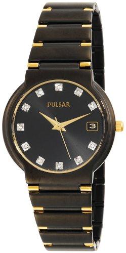 パルサー SEIKO セイコー 腕時計 メンズ PXH617 Pulsar Men's PXH617 Crystal Accented Black Ion Plated Stainless Steel Watchパルサー SEIKO セイコー 腕時計 メンズ PXH617