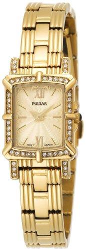 パルサー SEIKO セイコー 腕時計 レディース PEGD40 Pulsar Women's PEGD40 Swarovski Crystal Collection Gold-Tone Watchパルサー SEIKO セイコー 腕時計 レディース PEGD40
