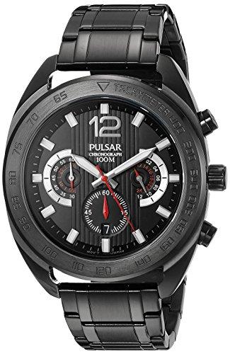 パルサー SEIKO セイコー 腕時計 メンズ PT3631 Pulsar Men's PT3631 Chronograph Analog Display Japanese Quartz Black Watchパルサー SEIKO セイコー 腕時計 メンズ PT3631