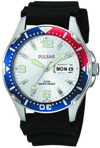 パルサー SEIKO セイコー 腕時計 メンズ PXN109 Pulsar Men's PXN109 Sport Black Polyurethane Strap Watchパルサー SEIKO セイコー 腕時計 メンズ PXN109