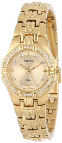 パルサー SEIKO セイコー 腕時計 レディース PTC390 Pulsar Women's PTC390 Crystal Accented Gold-Tone Stainless Steel Watchパルサー SEIKO セイコー 腕時計 レディース PTC390