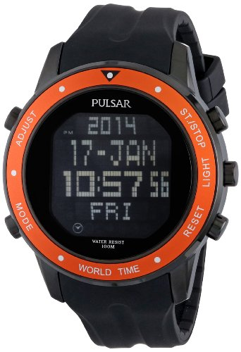 パルサー SEIKO セイコー 腕時計 メンズ PQ2017 Pulsar Men's PQ2017 Digital Display Japanese Quartz Black Watchパルサー SEIKO セイコー 腕時計 メンズ PQ2017