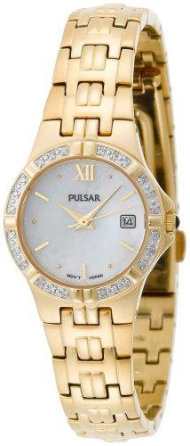 パルサー SEIKO セイコー 腕時計 レディース PXT704 Pulsar Women's PXT704 Diamond Mother Of Pearl Gold-Tone Watchパルサー SEIKO セイコー 腕時計 レディース PXT704