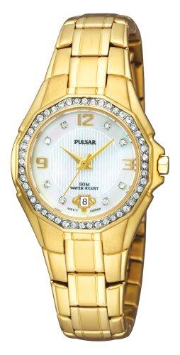 パルサー SEIKO セイコー 腕時計 レディース PXT800 【送料無料】Pulsar Women's PXT800 Crystal Mother of Pearl Dial Watchパルサー SEIKO セイコー 腕時計 レディース PXT800
