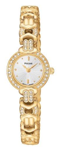 パルサー SEIKO セイコー 腕時計 レディース PEGB72 【送料無料】Pulsar Women's PEGB72 Crystal Dress Gold-Tone Watchパルサー SEIKO セイコー 腕時計 レディース PEGB72