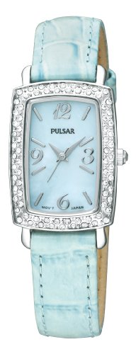 パルサー SEIKO セイコー 腕時計 レディース PTC501 Pulsar Women's PTC501 Crystal Case Blue Leather Strap Blue Mother-of-Pearl Dial Watchパルサー SEIKO セイコー 腕時計 レディース PTC501