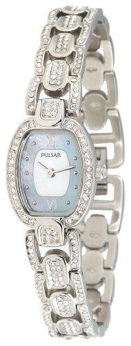 パルサー SEIKO セイコー 腕時計 レディース PEGD37 Pulsar Women's PEGD37 Swarovski Crystal Collection Silver-Tone Watchパルサー SEIKO セイコー 腕時計 レディース PEGD37