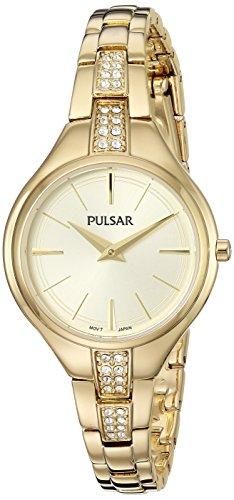 パルサー SEIKO セイコー 腕時計 レディース PM2242 Pulsar Women's Analog-Quartz Watch with Stainless-Steel Strap, Gold, 10 (Model: PM2242)パルサー SEIKO セイコー 腕時計 レディース PM2242
