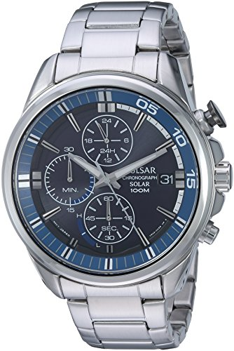 パルサー SEIKO セイコー 腕時計 メンズ PZ6021 Pulsar Men's Analog-Quartz Watch with Stainless-Steel Strap, Silver, 11 (Model: PZ6021)パルサー SEIKO セイコー 腕時計 メンズ PZ6021