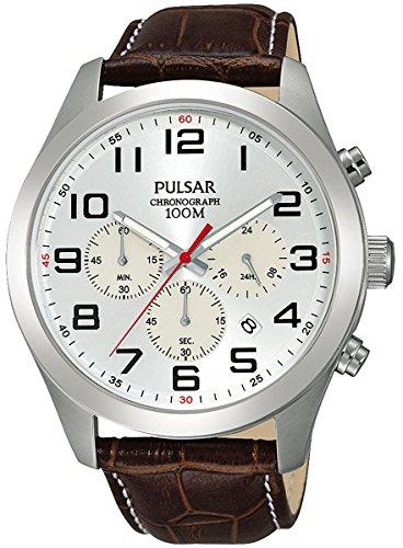 パルサー SEIKO セイコー 腕時計 メンズ Pulsar Active Mens Analog Quartz Watch with Leather Bracelet PT3663X1パルサー SEIKO セイコー 腕時計 メンズ