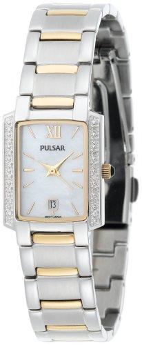 パルサー SEIKO セイコー 腕時計 レディース PXT701 【送料無料】Pulsar Women's PXT701 Diamond Mother Of Pearl Dial Two-Tone Watchパルサー SEIKO セイコー 腕時計 レディース PXT701