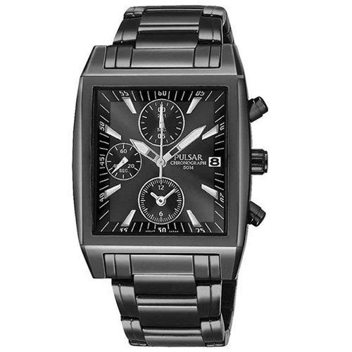 パルサー SEIKO セイコー 腕時計 メンズ PF8137 【送料無料】Pulsar Men's PF8137 Chronograph Black Ion Plated Stainless Steel Watchパルサー SEIKO セイコー 腕時計 メンズ PF8137