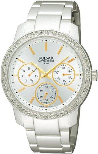 パルサー SEIKO セイコー 腕時計 レディース PP6037 【送料無料】Pulsar Attitude Womens Analog Quartz Watch with Stainless Steel Bracelet PP6037X1パルサー SEIKO セイコー 腕時計 レディース PP6037