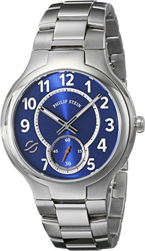 フィリップ ステイン 腕時計 メンズ 42-SBL-SS 【送料無料】Philip Stein Men's 42-SBL-SS Analog Display Japanese Quartz Silver Watchフィリップ ステイン 腕時計 メンズ 42-SBL-SS