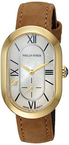 フィリップ ステイン 腕時計 レディース 74GP-CMOP-CSTCC Philip Stein Women's Modern Stainless Steel Swiss-Quartz Watch with Leather-Calfskin Strap, Brown, 14 (Model: 74GP-CMOP-CSTCCフィリップ ステイン 腕時計 レディース 74GP-CMOP-CSTCC