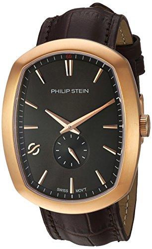 フィリップ ステイン 腕時計 メンズ 72RGP-CRGBK-CSTACH 【送料無料】Philip Stein Men's Modern Stainless Steel Swiss-Quartz Watch with Leather Calfskin Strap, Brown, 22 (Model: 72RGP-CRGBK-CSTACHフィリップ ステイン 腕時計 メンズ 72RGP-CRGBK-CSTACH