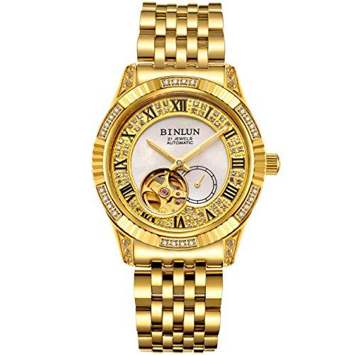 ビンルン 腕時計 メンズ BL0018G-SGW-B 【送料無料】BINLUN 18K Gold Men's Wrist Watch Tourbillon Mechanical Automatic Watchesビンルン 腕時計 メンズ BL0018G-SGW-B