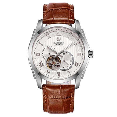 ビンルン 腕時計 メンズ BL0020BRS BINLUN Automatic Watches for Men Outdoor Stainless Steel Waterproof Mechanical Watch (Brown2)ビンルン 腕時計 メンズ BL0020BRS