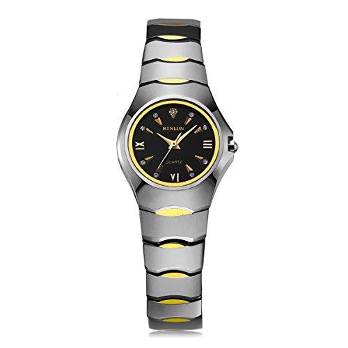 ビンルン 腕時計 レディース BL0033L-WGB 【送料無料】Binlun Teen Girls Casual Tungsten Steel Waterproof Wristwatch with Bling Diamonds-Rose Goldビンルン 腕時計 レディース BL0033L-WGB