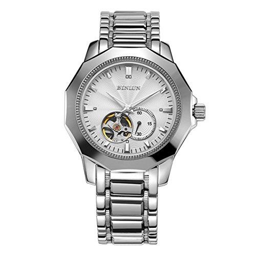 ビンルン 腕時計 メンズ BL0064S BINLUN Automatic Watches for Men Stainless Steel Skeleton Tourbillon Mechanical Mens Watch Waterproofビンルン 腕時計 メンズ BL0064S