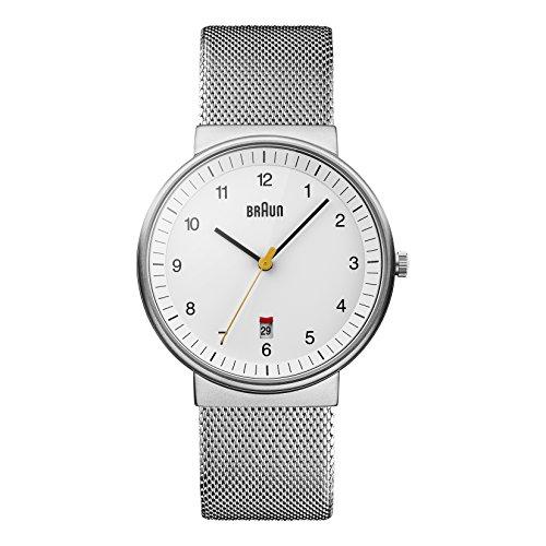 腕時計 ブラウン メンズ BN0032WHSLMHG 【送料無料】Braun Men's BN0032WHSLMHG Classic Mesh Analog Display Japanese Quartz Silver Watch腕時計 ブラウン メンズ BN0032WHSLMHG