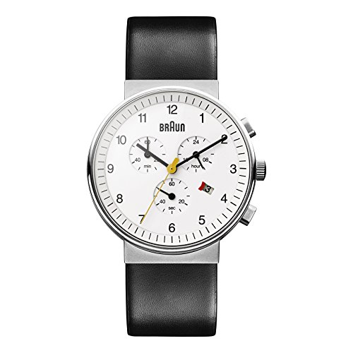 ブラウン 腕時計 メンズ BN0035WHBKG 【送料無料】Braun Men's BN0035WHBKG Classic Chronograph Analog Display Quartz Black - White Dial with Black Bandブラウン 腕時計 メンズ BN0035WHBKG