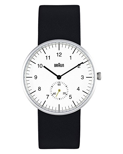 """ブラウン 腕時計 メンズ BN-24WHG 【送料無料】Braun Men""""s Analog Wrist Watch, White Face 38 mmブラウン 腕時計 メンズ BN-24WHG"""