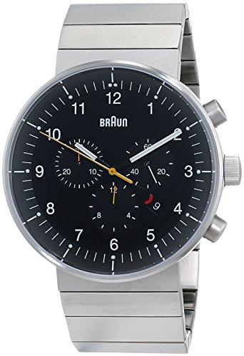 ブラウン 腕時計 メンズ BN0095BKSLBTG 【送料無料】Braun Men's BN0095BKSLBTG Prestige Chronograph Analog Display Swiss Quartz Silver Watchブラウン 腕時計 メンズ BN0095BKSLBTG