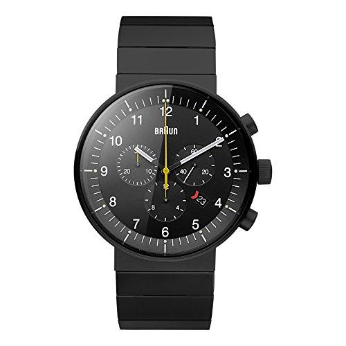 ブラウン 腕時計 メンズ BN0095BKBKBTG 【送料無料】Braun Men's BN0095BKBKBTG Prestige Analog Display Swiss Quartz Black Watchブラウン 腕時計 メンズ BN0095BKBKBTG