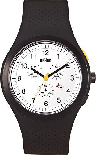 ブラウン 腕時計 メンズ BN0115WHBKBKG Braun Men's BN0115WHBKBKG Sport Chronograph Analog Display Quartz Black Watchブラウン 腕時計 メンズ BN0115WHBKBKG