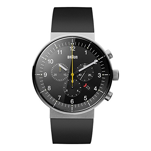 腕時計 ブラウン メンズ BN0095BKSLBKG 【送料無料】Braun Men's BN0095BKSLBKG Prestige Analog Display Swiss Quartz Black Watch腕時計 ブラウン メンズ BN0095BKSLBKG