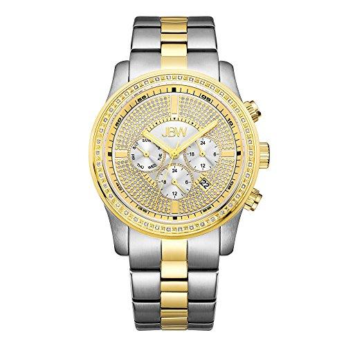 高級腕時計 メンズ J6337A JBW Luxury Men's Vanquish 0.42 ctw Diamond Wrist Watch with Stainless Steel Link Bracelet高級腕時計 メンズ J6337A