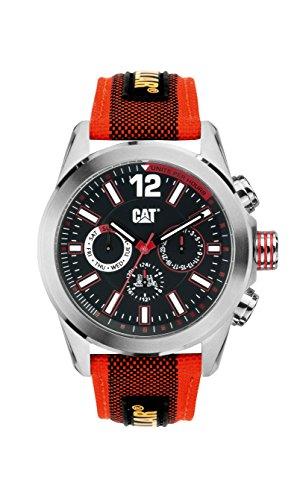 キャタピラー タフネス 腕時計 メンズ 頑丈 YO14968128 CAT Men's YO14968128 Big Twist Red and Black Analog Watchキャタピラー タフネス 腕時計 メンズ 頑丈 YO14968128