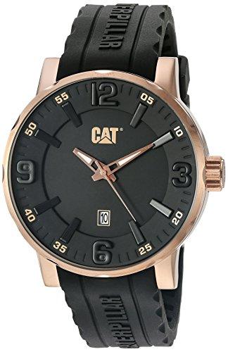 キャタピラー タフネス 腕時計 メンズ 頑丈 NJ19121139 CAT WATCHES Men's 'Bold 46 mm' Quartz Stainless Steel and Leather Watch, Color:Black (Model: NJ19121139)キャタピラー タフネス 腕時計 メンズ 頑丈 NJ19121139