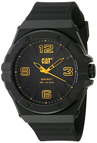 キャタピラー タフネス 腕時計 メンズ 頑丈 LE.111.21.137 【送料無料】CAT Spirit II Black Men Watch, 46.5 mm case, Polycarbonate case, Black silicone strap, black dial (LE.111.21.137)キャタピラー タフネス 腕時計 メンズ 頑丈 LE.111.21.137
