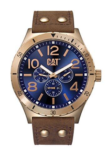 キャタピラー タフネス 腕時計 メンズ 頑丈 NI19935639 【送料無料】CAT WATCHES Men's 'Camden 48' Quartz Stainless Steel and Leather Casual, Color:Brown (Model: NI19935639)キャタピラー タフネス 腕時計 メンズ 頑丈 NI19935639